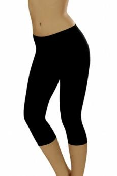 Bas femme Leggins short plus black